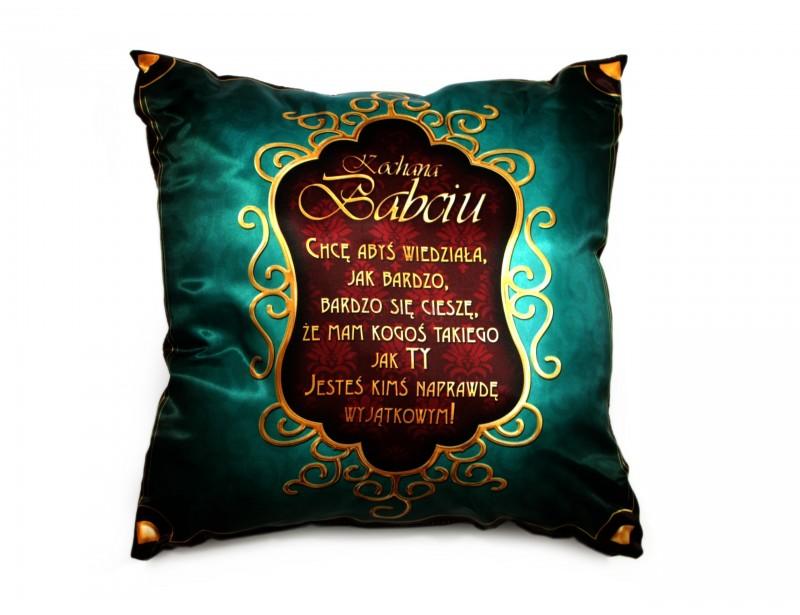 Spraw elegancki i praktyczny prezent swojej ukochanej babci. Z takiej poduszki z pewnością się ucieszy :)
