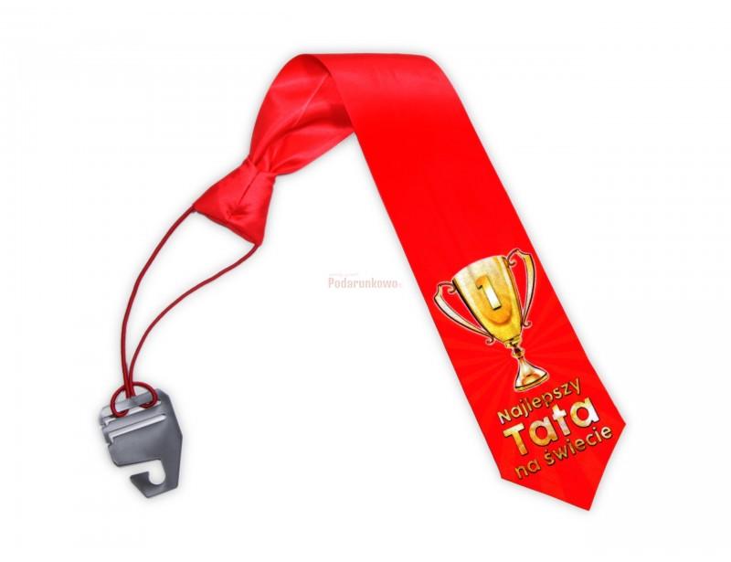 Szukasz prezentu na imieniny taty, jego urodziny lub Dzień Ojca? Prezentowany krawat z symbolicznym napisem może być bardzo udaną propozycją :)