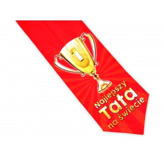 Krawat Premium - Najlepszy Tata na świecie