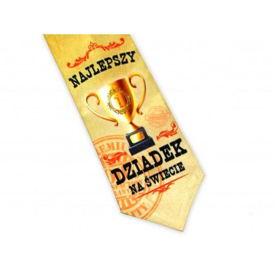 Krawat Premium - Najlepszy Dziadek na Świecie