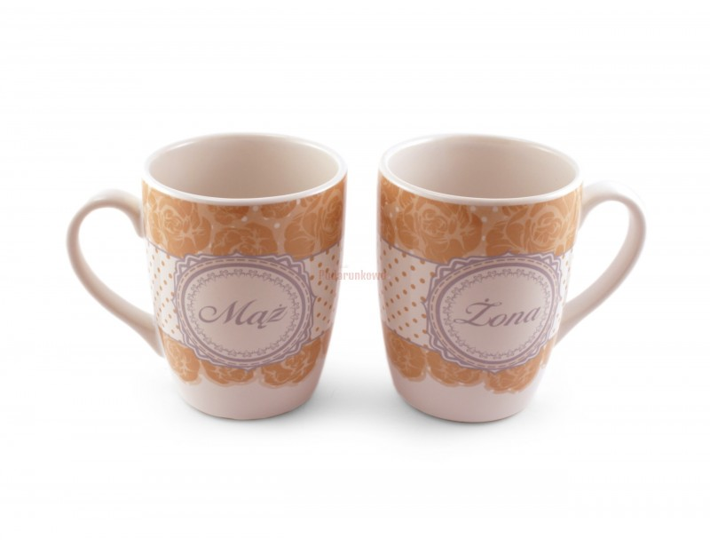 Piękny zestaw dwóch porcelanowych kubków w stylu retro. Kubki charakteryzują się wysoką jakością wykonania i eleganckim wyglądem.