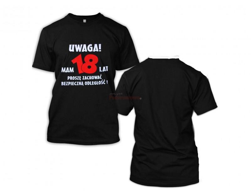 18 urodziny muszą być wyjątkowe :) Aby podkreślić na imprezie naszego solenizanta możemy zafundować mu taką właśnie okazjonalną koszulkę :)