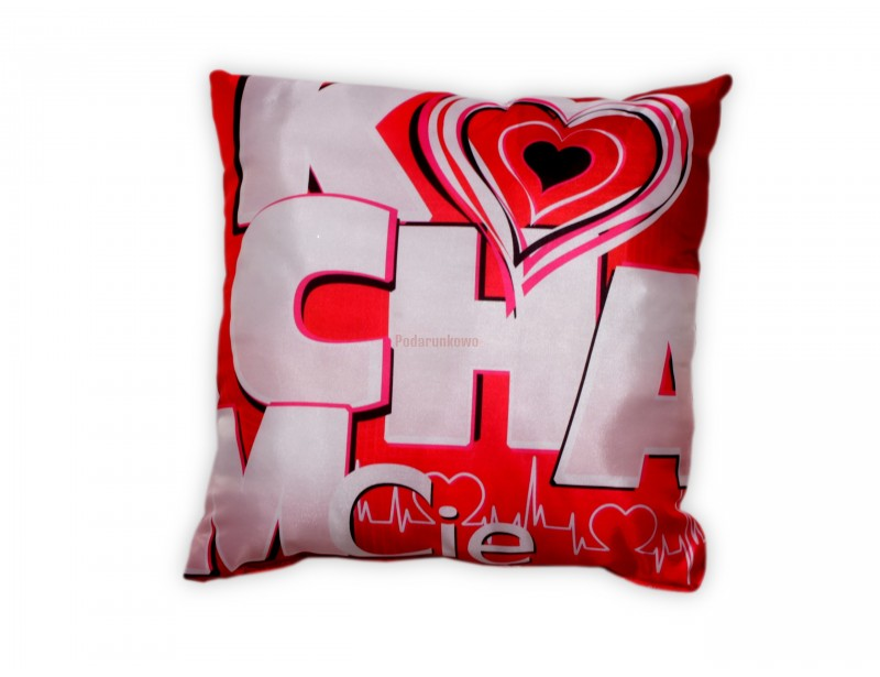 liczna, miękka poduszka w miłosnych barwach z pewnością będzie wspaniałym prezentem np. na Walentynki.