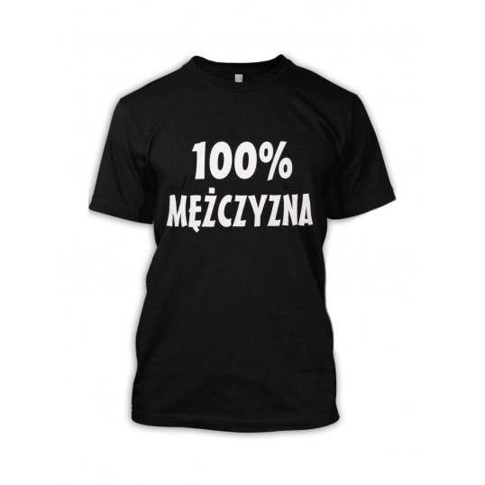 Koszulka - 100% Mężczyzna