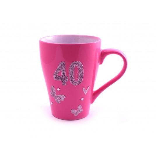 Kubek Glamour - 40 urodziny (dla niej)