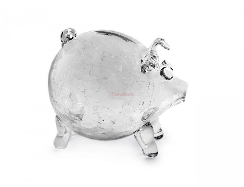 Skarbonka szklana - Świnka Crackle