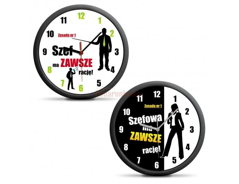 Oryginalny zegar będzie rewelacyjnym prezentem dla wymagającego szefa, który ma zawsze rację :)