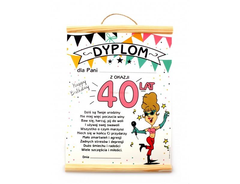 Dyplom Na 40 Urodziny Dla Kobiety