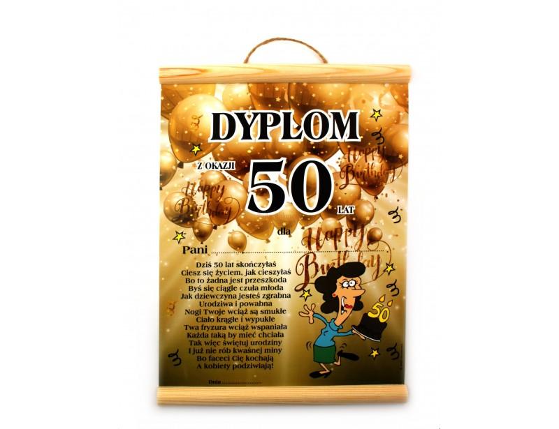 Dyplom Na 50 Urodziny Dla Kobiety