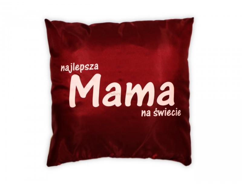 Elegancka ozdobna poduszka dla mamy jest idealnym prezentem z okazji urodzin, imienin lub Dnia Mamy.