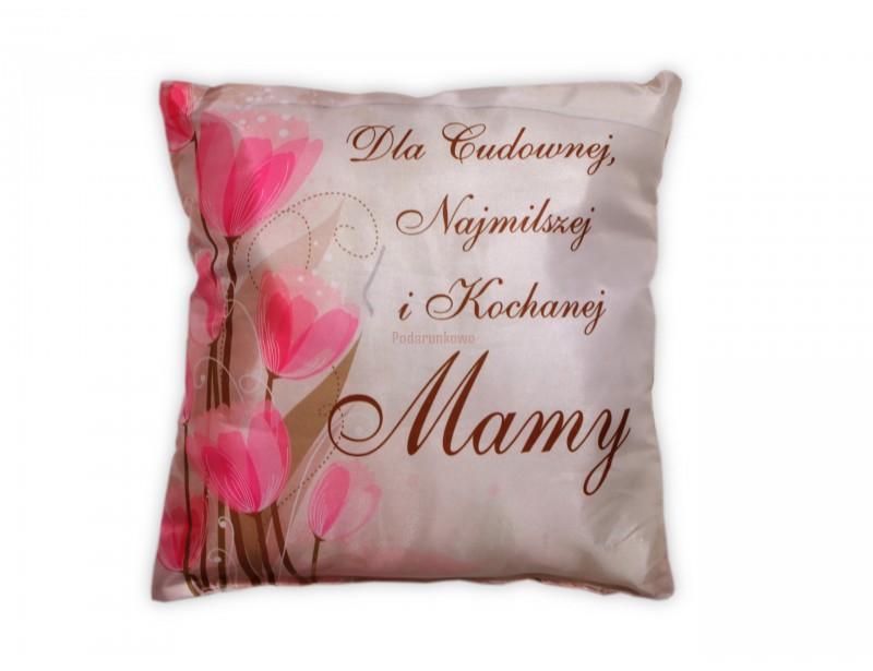 Poduszka jest ślicznie wykonana. Ma subtelny kolor i kobiecy, kwiatowy wzór. Jeśli szukasz miłego, praktycznego prezentu dla mamy to właśnie go znalazłeś :)