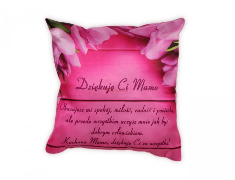 Poduszka jest pięknie i elegancko wykonana. Ma subtelny kolor i kobiecy, różowy wzór. Jeśli szukasz miłego, praktycznego prezentu dla mamy to właśnie go znalazłeś