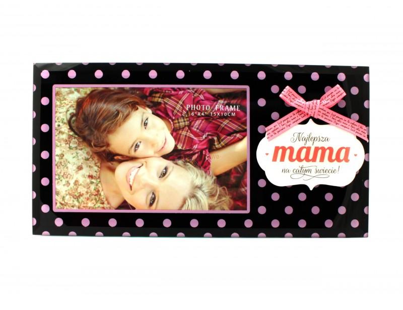 Zjawiskowo piękna ramka na zdjęcie to doskonały prezent dla Mamy. Ramka prezentuje się znakomicie, ma świetnie dobrane kolory i jest pomysłowo przyozdobiona.