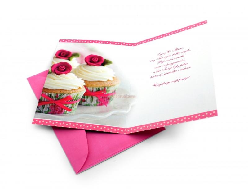 Klasyczna kartka ozdobna z pięknymi życzeniami jest idealnym dopełnieniem do prezentu dla ukochanej Mamy :)