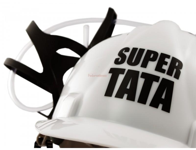 Imprezowy kask na piwo - Super Tata