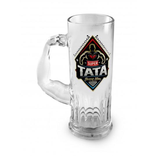 Kufel na piwo Mocarz - Super Tata