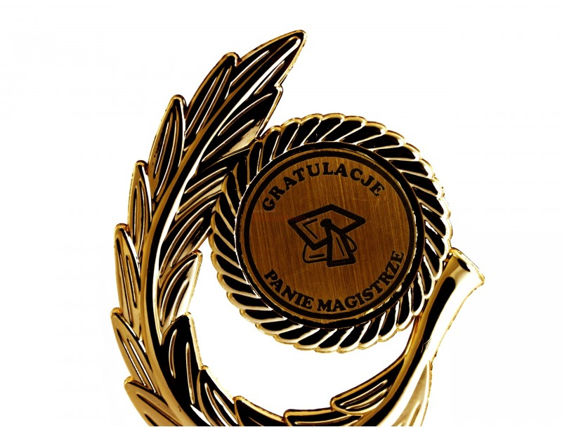 Oryginalny prezent upamiętniający ten ważny dzień - obronę pracy magisterskiej - statuetka w kształcie Lauru Zwycięzcy :)