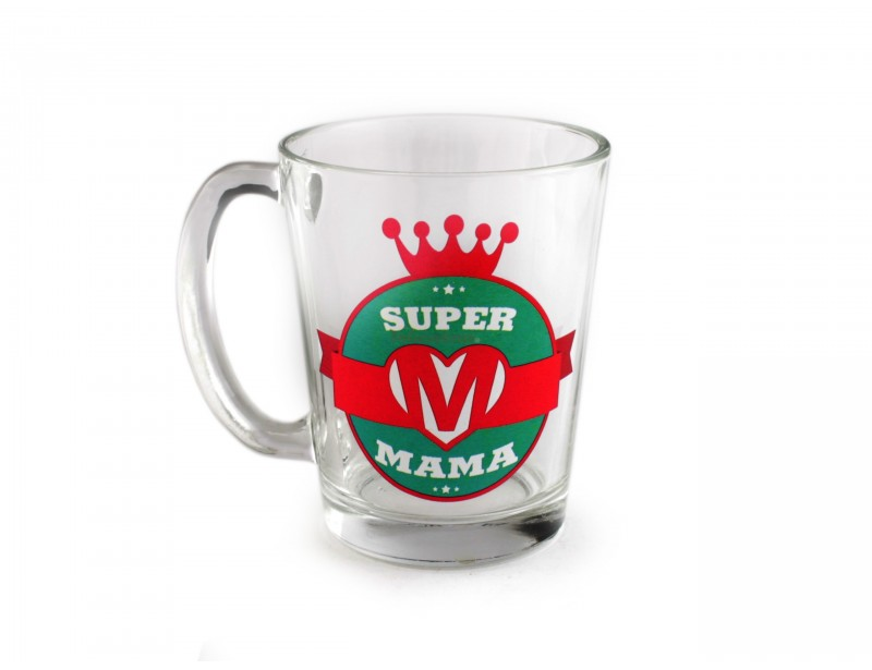 Szklanka dla Super Mamy to doskonały pomysł z okazji urodzin, imienin lub Dnia Matki. Szklanka to praktyczny upominek, który umili poranne picie herbaty lub kawy :)