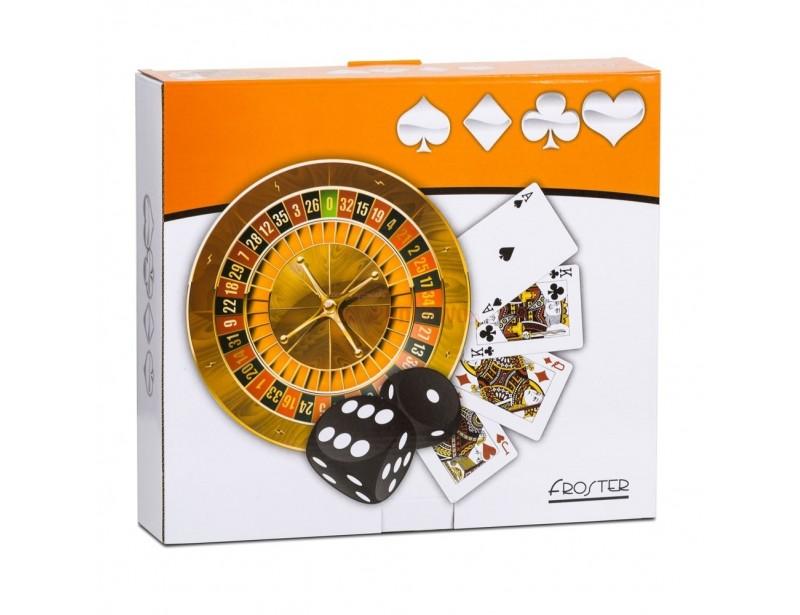 Domowe kasyno to zestaw najpopularniejszych i najbardziej lubianych na całym świecie gier hazardowych. Znajdziesz tu ruletkę, Black Jack'a, pokera i kości.