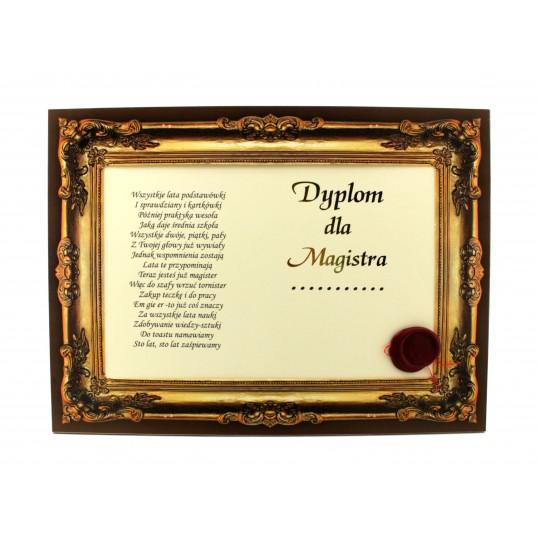 Certyfikat - Dyplom dla Magistra