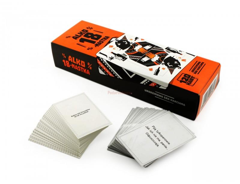 Gra specjalnie przygotowana, by Twoja 18-stka była zapamiętana na dłuuugo. Polecenia zapisane na kartach, które każdy z graczy losuje na początku kolejki, zostały dopracowane tak, by nikt się nie nudził :)
