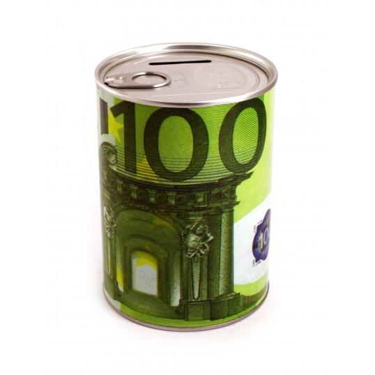 Skarbonka puszka z otwieraczem - 100 Euro