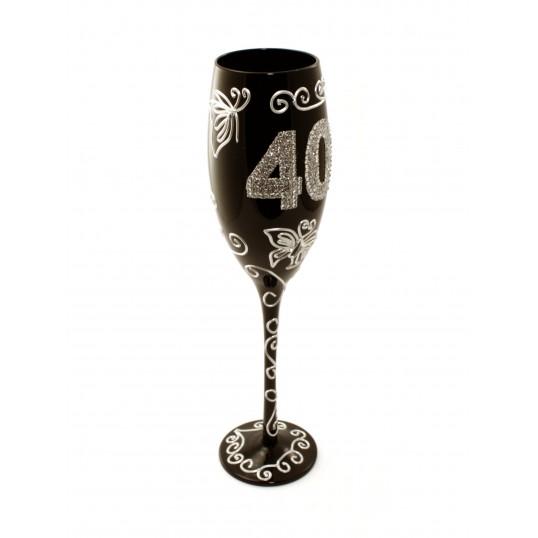 Kieliszek do szampana - Na 40 urodziny