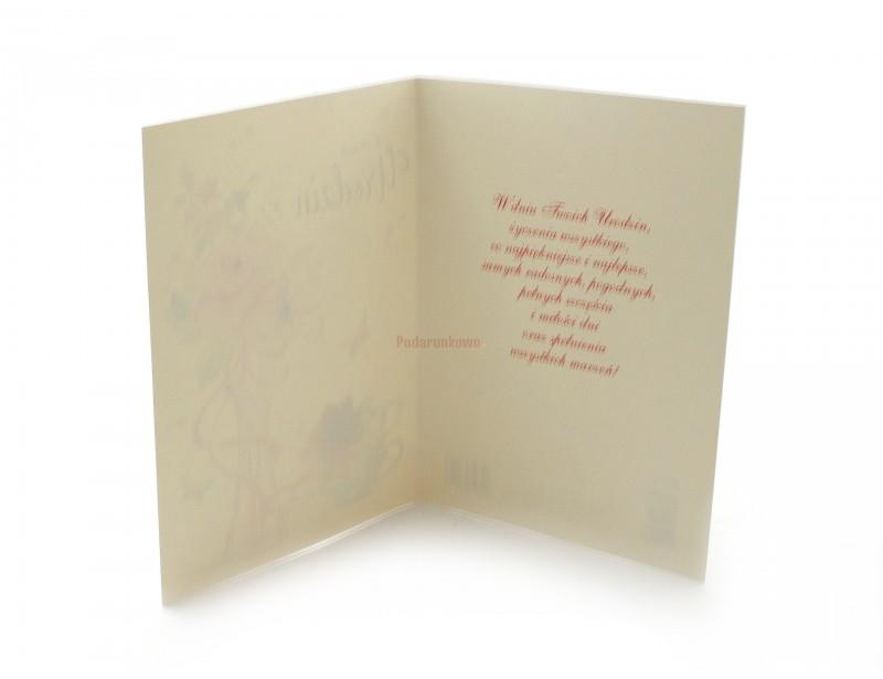 Śliczy, uniwersalny karnet urodzinowy. Charakteryzuje go delikatna grafika, stylowa czcionka oraz ładne życzenia.