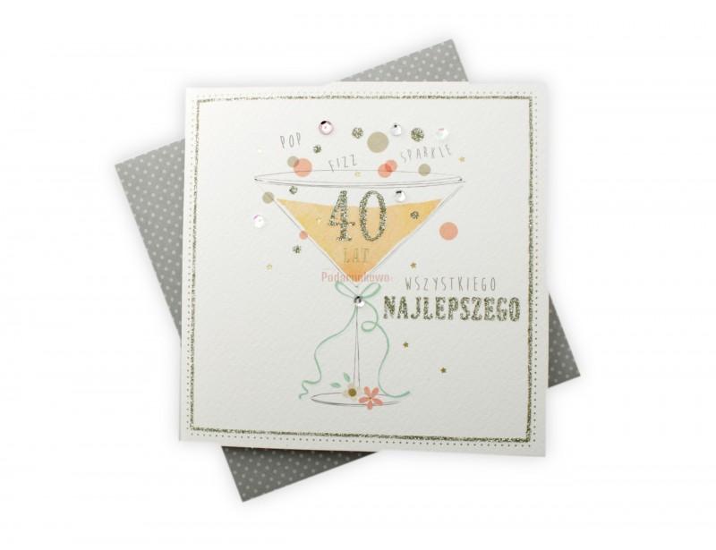 Karnet - Wszystkiego Najlepszego na 40
