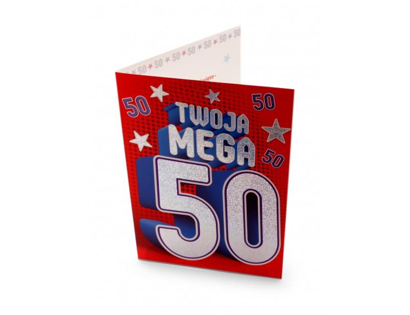 Oryginalna, wyjątkowa kartka z okazji 50-tych urodzin podkreśli rangę tego wyjątkowego i niepowtarzalnego Jubileuszu.