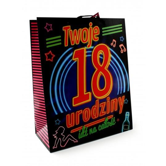 Torebka prezentowa na 18-stkę - Neon