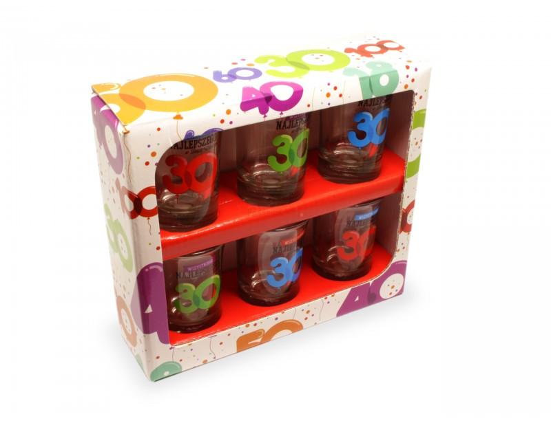 Kolorowe, wesołe, niepowtarzalne kieliszki to niezastąpiony prezent na 30 urodziny zarówno dla chłopaka jak i dla dziewczyny.