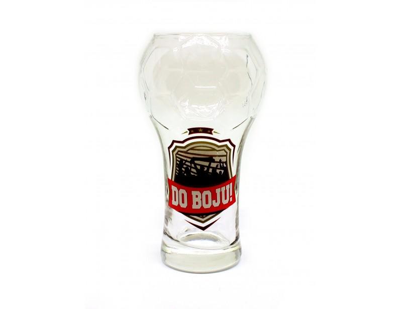 Niepowtarzalna szklanka do piwa w kształcie piłki nożnej. Wspaniały prezent dla piłkarza lub dla kibica :)