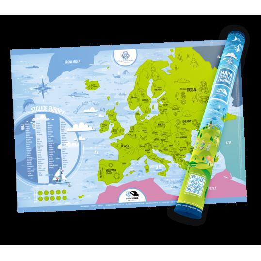 Mapa zdrapka - Europa - język polski