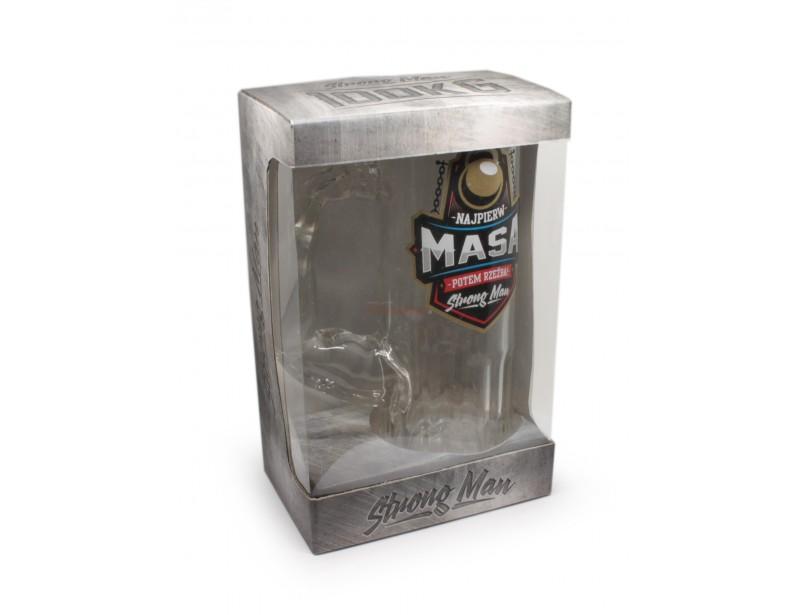 Kufel ma wyjątkowy kształt, wykonany jest z wysokiej jakości szkła i zapakowany jest w ozdobne opakowanie.