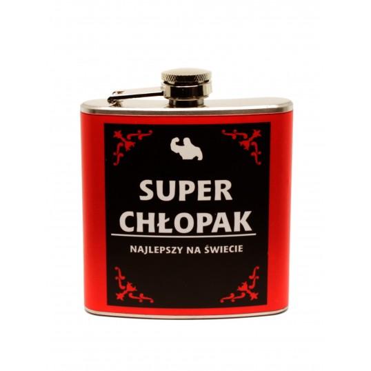 Piersiówka 6 oz - Super Chłopak
