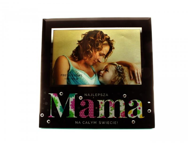 Ramka wykonana jest ze szkła, ma ciekawy wzór, jest gustownie ozdobiona i zjawiskowo się prezentuje :) To wspaniały upominek dla mamy.