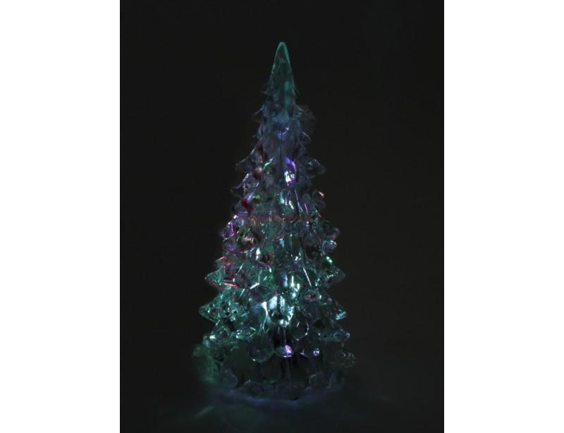 Niewielka, szklana choineczka z podświetleniem to podstawa świątecznego wystroju domu lub biura :)