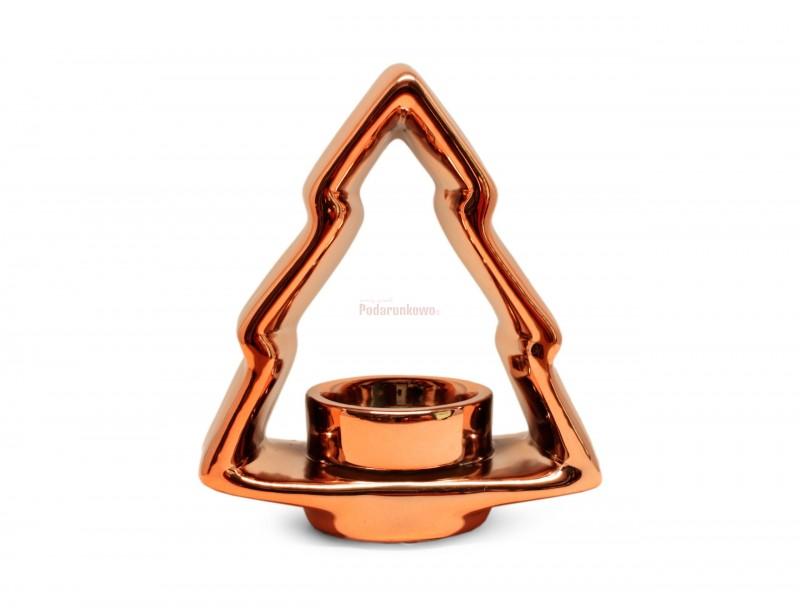 Świecznik ceramiczny - Choinka