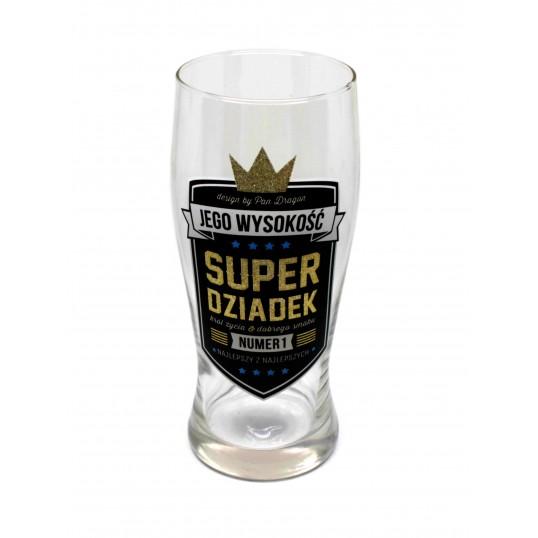 Szklanka na piwo Royal - Super Dziadek