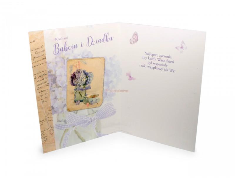 Piękny i stylowy karnet dla ukochanej Babci i dla ukochanego Dziadka :)
