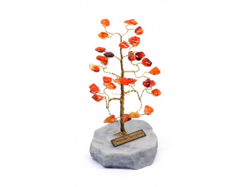 Elegancko wykonane, stylowe drzewko szczęścia z kamyczkami Karneolu z pewnością będzie znakomitym prezentem dla kobiety.