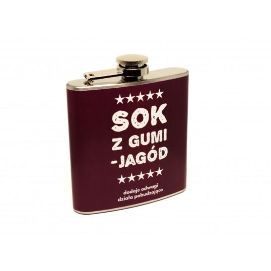 Piersiówka 6 oz - Sok z Gumi-jagód