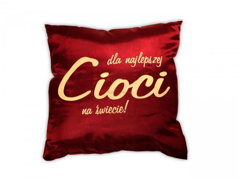 Szykowna, delikatna, ozdobna poduszka to doskonały pomysł na prezent dla cioci.