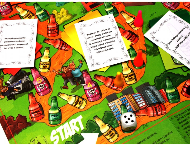 Zestaw 5 oryginalnych gier imprezowych to idealny pomysł na rozkręcenie zabawy.