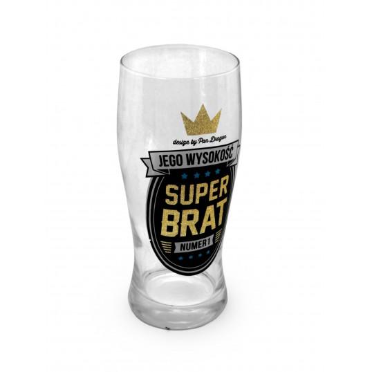Szklanka na piwo Royal - Jego wysokość Super Brat