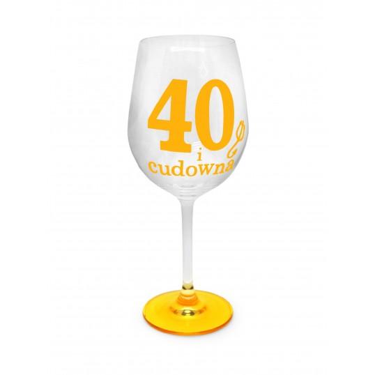 Kieliszek do wina - Cudowna 40