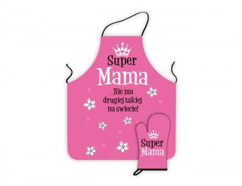 Fartuch + Rękawica - Super Mama