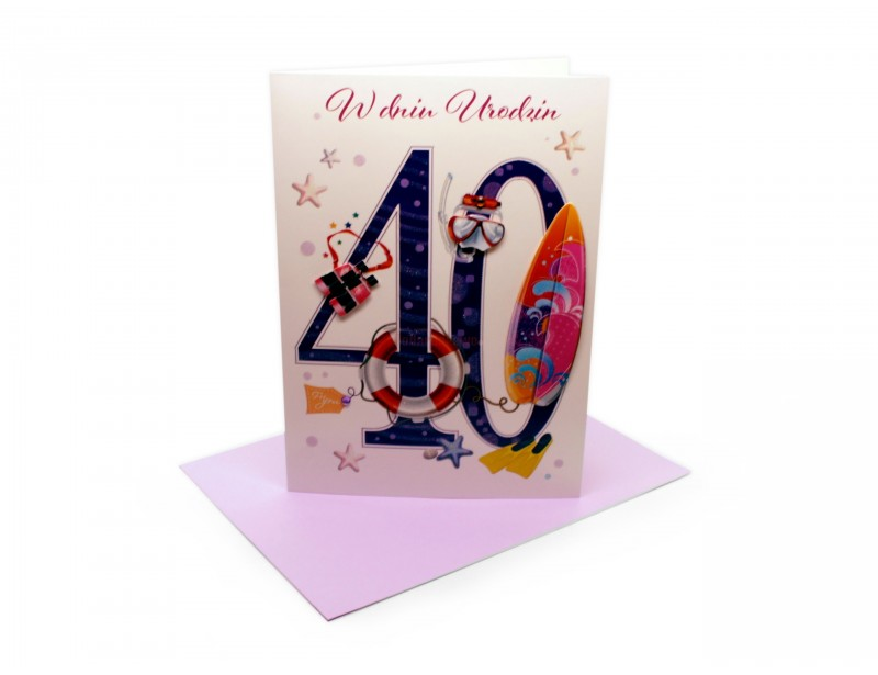 Karnet - W dniu 40 urodzin (dla niej)