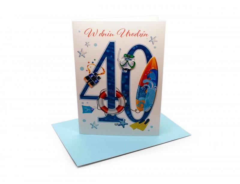 Karnet - W dniu 40 urodzin (dla niego)